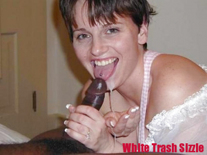 White Trash No Wasting Cum